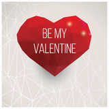 Valentines day card, geometric triangle pattern, label design, Stock Image