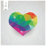 Valentines day card, geometric triangle pattern, label design, Royalty Free Stock Images