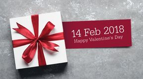 Valentine`s day card and gift. Stock Photos