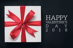 Valentine`s day card and gift. Stock Photo