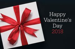 Valentine`s day card and gift. Royalty Free Stock Photo