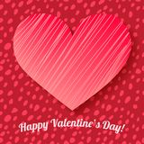 Valentine's day card on hand drawn dots background Royalty Free Stock Photo