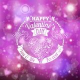 Valentine's Day Card royalty free illustration