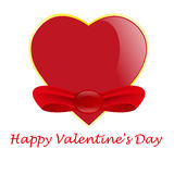 Valentine's day card with heard Royalty Free Stock Image
