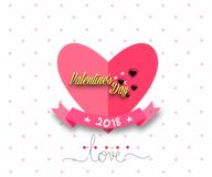 Valentine`s day card. Heart for Valentine`s Day.  Royalty Free Stock Image