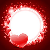Valentine's day card with heart Royalty Free Stock Photos