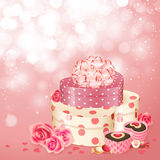 Valentine`s Day card with heart Royalty Free Stock Photo