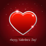Valentine's Day card with heart Royalty Free Stock Photo