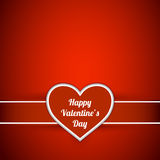 Valentines day card. With heart label Stock Image