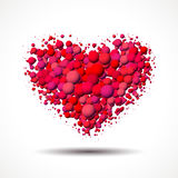 Valentine`s Day card with heart made of scattered bubbles Royalty Free Stock Photography