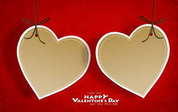 Valentine's day card with Heart Paper Royalty Free Stock Images
