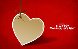 Valentine's day card with Heart Paper Royalty Free Stock Photography