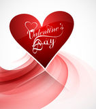 Valentine's day card heart reflection background for wave Royalty Free Stock Photography