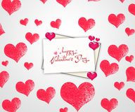 Valentine`s day card. Heart with white background.  Royalty Free Stock Image