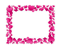 Valentine's day card with hearts Royalty Free Stock Photography