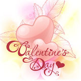 Valentine's day card with hearts Royalty Free Stock Photo