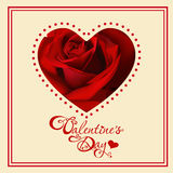 Valentine's day card with hearts Stock Images