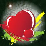 Valentine's day card with hearts Royalty Free Stock Image