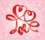 Valentine`s Day card with hearts Royalty Free Stock Images