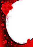 Valentine's day card. Hearts collection Stock Photography