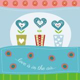 Valentines day card with hearts flower. Cute card with hearts flower Royalty Free Stock Photography