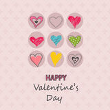 Valentine`s Day card, hearts Royalty Free Stock Images