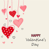 Valentine`s Day card, hearts Royalty Free Stock Image