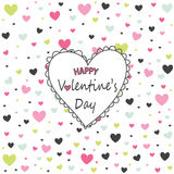 Valentine`s Day card, hearts Royalty Free Stock Photos
