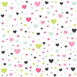 Valentine`s Day card, hearts Royalty Free Stock Photo