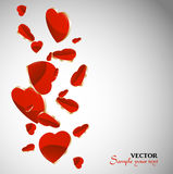 Valentine`s Day Card Hearts Royalty Free Stock Photo