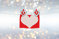 Valentine`s day card with hearts and space to write love letter, text Stock Photo
