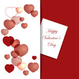 Valentine`s Day card with hearts and text Royalty Free Stock Photography