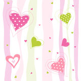 Valentine`s Day card, hearts Stock Photo