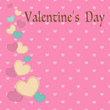 Valentine`s day card with hearts for your design. Vector illustr Stock Photo
