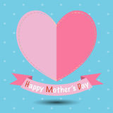 Valentine`s day card with hearts for your design. Vector illustr Royalty Free Stock Photo