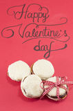 Valentine's day card and homemade cookies Stock Image