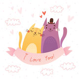 Valentine's day card. I love You! Royalty Free Stock Images