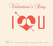 Valentine's Day Card - Illustration Royalty Free Stock Photo