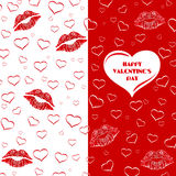 Valentine's Day card, invitation or flyer Stock Image