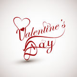 Valentines day card with lettering text beautiful  Royalty Free Stock Photography