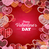 Valentine's day card with love hearts Royalty Free Stock Photos