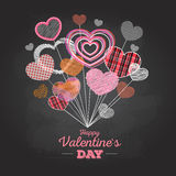 Valentine's day card with love hearts Royalty Free Stock Images
