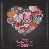 Valentine's day card with love hearts Stock Photo