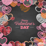 Valentine's day card with love hearts Stock Images