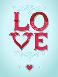 Valentine's day card. Love letters with hearts Stock Photography