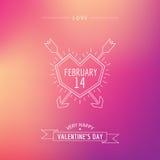 Valentine's Day Card Stock Photo