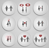 Valentine's Day card with a love story Royalty Free Stock Images