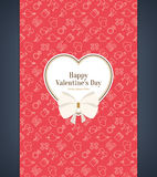 Valentine's day card Stock Image