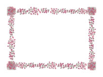 Valentine s Day card Made of pink and white Marshmallow isolated on white Royalty Free Stock Photo