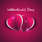 Valentine`s Day card with modern hearts effect Stock Images